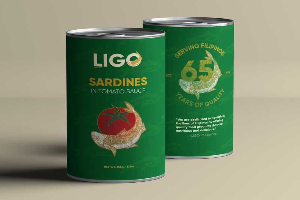 Ligo Sardine with tomato Packaging